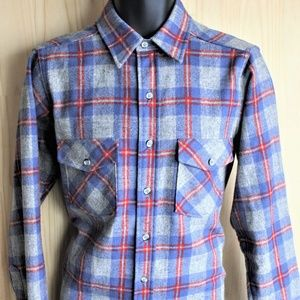 Woolrich Wool Flannel Plaid Shirt/Size 41